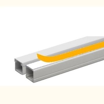 Εικόνα της Κανάλια Διανομής Καλωδίων - Αυτοκόλλητα 12X12mm Λευκό 24-20030-121 Courbi