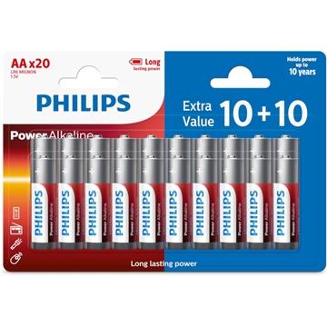 Εικόνα της Philips LR6P20BP/GRS Power Alkaline Αλκαλικές Μπαταρίες Υψηλής Απόδοσης AA (20 τμχ)