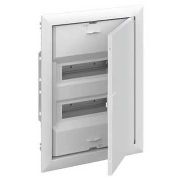 Εικόνα της UK624E3 Πίνακας Mεταλλοπλαστικός 24Μ με Πόρτα Λευκή ABB 701365