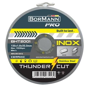 """Εικόνα της Δίσκος Κοπής """"THUNDER-CUT"""" Inox Extra Long Ceramic Φ125x1mm (10TMX) Display (035732) Bormann Pro BHT2001-D"""