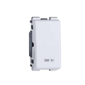 Εικόνα της Διακόπτης  Απλός Με Φως 230V 16A Λευκός 1 Βήματος  Lecce Elmark 26002