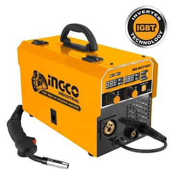 Εικόνα της Επαγγελματική Ηλεκτροκόλληση Inverter 160Α Σύρματος με Αέριο και Χωρίς Αέριο INGCO MGT1601